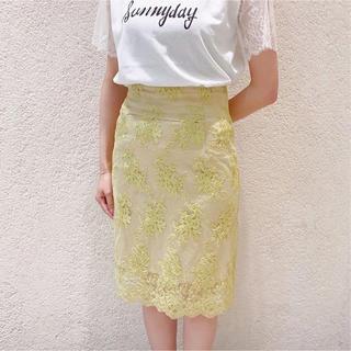 デイシー(deicy)のme couture♡チュールコードレースタイトスカート(ひざ丈スカート)