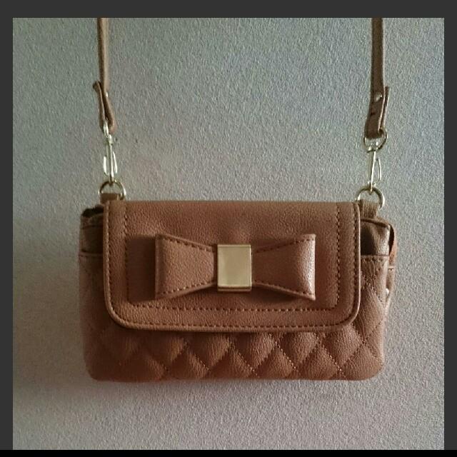 しまむら(シマムラ)のお財布ショルダー キャメル レディースのファッション小物(財布)の商品写真