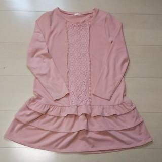 ジーユー(GU)のGU ワンピース スカート3段 120cm(ワンピース)