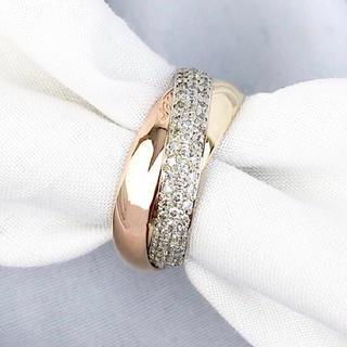 カルティエ(Cartier)の【仕上済】カルティエ トリニティリング 8号 ダイヤ レディース 指輪 リング(リング(指輪))