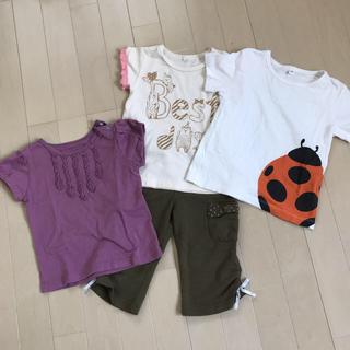 ムジルシリョウヒン(MUJI (無印良品))の女の子 100cm まとめ売り(Tシャツ/カットソー)