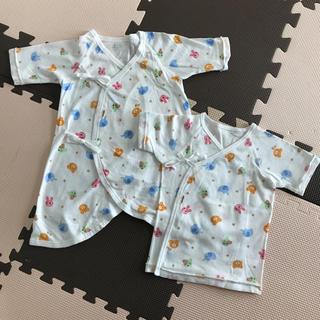 ミキハウス(mikihouse)の新生児用 短肌着 長肌着セット(肌着/下着)
