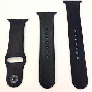アップルウォッチ(Apple Watch)のアップル純正 スポーツバンド 黒 Apple Watch 38mm用(その他)