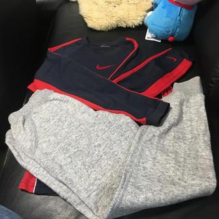 ナイキ(NIKE)のナイキ長袖シャツ ユニクロスウェット 140 (Tシャツ/カットソー)