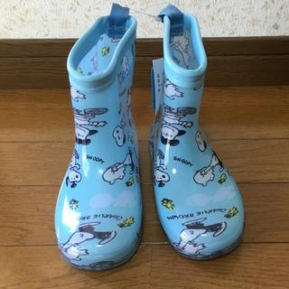 ピーナッツ(PEANUTS)の【新品・未使用品】スヌーピー 17cm 長靴 レインブーツ(長靴/レインシューズ)