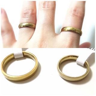 シンプルゴールドリング 4mm幅 単品(リング(指輪))