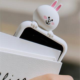 アイフォーン(iPhone)のLINE ライン コニー のiPhoneケース シリコン(iPhoneケース)