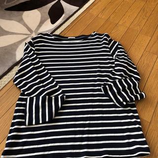 ジーユー(GU)のボーダートップス(Tシャツ/カットソー(七分/長袖))