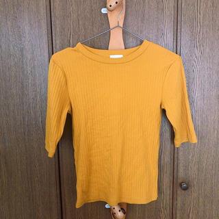 ジーユー(GU)のリブT(Tシャツ(半袖/袖なし))