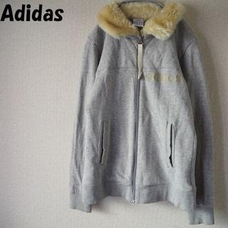 アディダス(adidas)の【人気】アディダス ファー付きジップアップスウェット サイズM レディース(トレーナー/スウェット)