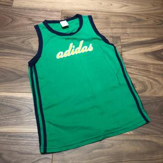 アディダス(adidas)のadidas☆タンクトップ☆160cm☆グリーン☆アディダス(Tシャツ/カットソー)