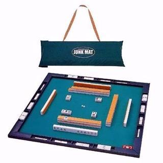 【新品】届いてすぐに遊べる麻雀牌+マットセット 『ジャンクマットさんご牌セット』