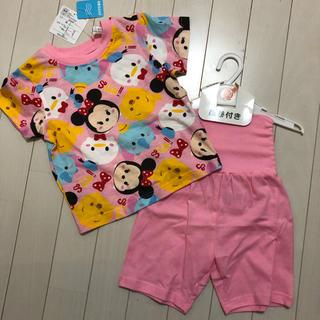 Disney - 新品タグ付き ツムツム 半袖パジャマ ピンク 90