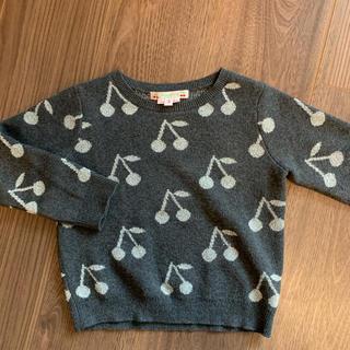 ボンポワン(Bonpoint)のbonpoint  ボンポワン チェリー柄セーター 3 A(ニット)