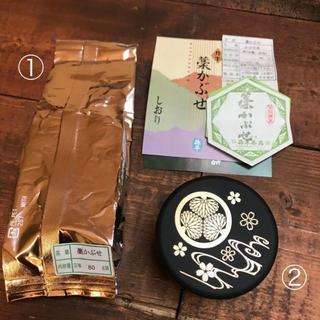 お茶の升半 かぶせ茶 藁かぶせ 80g&徳川園 こんぺいとう桜 40g(茶)