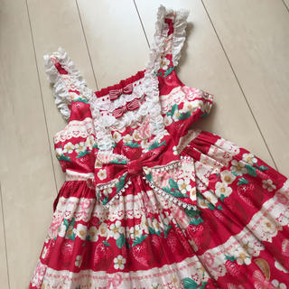 アンジェリックプリティー(Angelic Pretty)のAngelic Pretty Strawberry Whip ジャンスカ JSK(ひざ丈ワンピース)