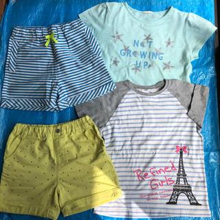 ジーユー(GU)の150 女の子 短パン Tシャツ セット(Tシャツ/カットソー)