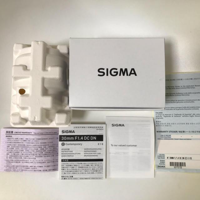 SIGMA(シグマ)のシグマ SIGMA 30mm F1.4 DC DN Eマウント用 スマホ/家電/カメラのカメラ(レンズ(単焦点))の商品写真