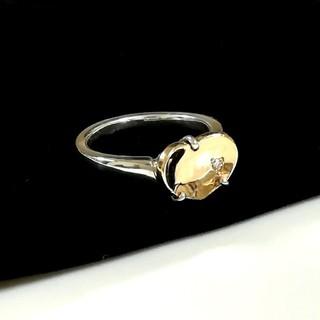 ヨンドシー(4℃)の4°C K10&シルバーハートリング 8号(リング(指輪))