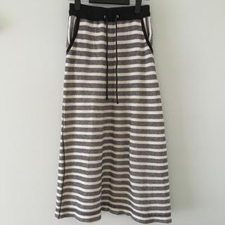 アズールバイマウジー(AZUL by moussy)のAZUL  アズールバイマウジー   ロングスカート  ボーダー  白黒(ロングスカート)