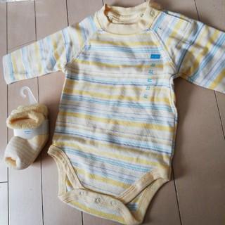 ロンパース 靴下 0~3ヶ月(ロンパース)