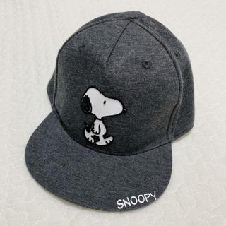 エイチアンドエム(H&M)のスヌーピー キッズ ベビー 9〜12m SNOOPY 帽子 キャップ グレー(帽子)