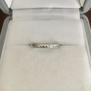 ヨンドシー(4℃)の4℃ ダイヤモンドリング Pt950 2.5mm 3.4g(リング(指輪))