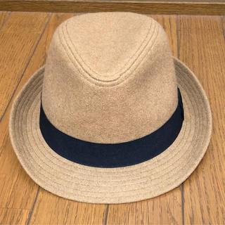 ジーユー(GU)のGU ハット 帽子 レディース ベージュ(ハット)