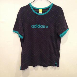 アディダス(adidas)のadidas アディダス Tシャツ サイズL ドット柄(Tシャツ/カットソー(半袖/袖なし))