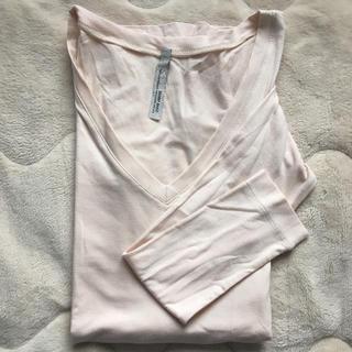 エゴイスト(EGOIST)のロングTシャツ シンプルトップス EGOIST エゴイスト くすみピンク❤︎(Tシャツ(長袖/七分))
