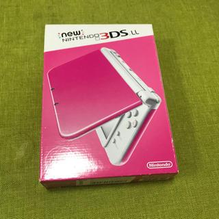 ニンテンドー3DS(ニンテンドー3DS)のNEW3DSLL ピンクホワイト 新品未使用品(携帯用ゲーム本体)