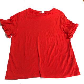 エイチアンドエム(H&M)のh&m袖フリルTシャツ(Tシャツ(半袖/袖なし))