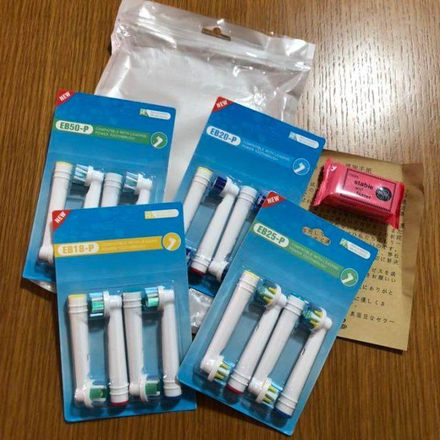 ブラウンオーラルB 対応 互換用 替えブラシ 16本セット スマホ/家電/カメラの美容/健康(電動歯ブラシ)の商品写真
