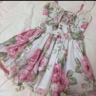 リズリサ(LIZ LISA)のLIZ LISA   オーガンジー花柄ワンピース♡(ミニワンピース)