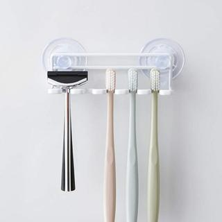 【山崎産業】 歯ブラシスタンド 吸盤トゥースブラシホルダー ホワイト(タオル/バス用品)