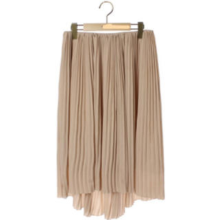 ユナイテッドアローズ(UNITED ARROWS)のプリーツスカート UNITED ARROWS ベージュ(ロングスカート)