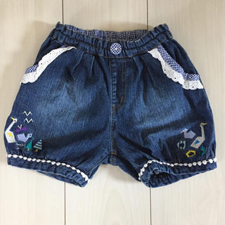 Petit jam - プチジャム  スワン刺繍パンツ