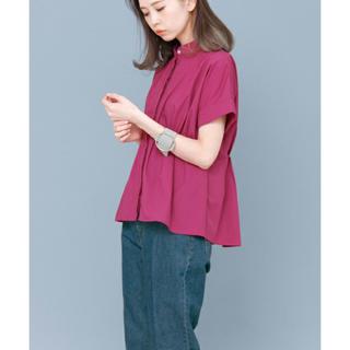 ケービーエフ(KBF)の未使用♡KBF♡ノーカラーペプラムシャツ♡(シャツ/ブラウス(半袖/袖なし))