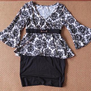 キャバ ドレス ワンピース ペプラム(ミニドレス)
