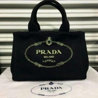 プラダ(PRADA)のPRADA カナパ ブラック ギンガムチェック Sサイズ(ショルダーバッグ)