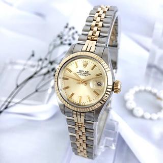 ロレックス(ROLEX)の【仕上済】ロレックス オイスター デイト コンビ レディース 腕時計(腕時計)