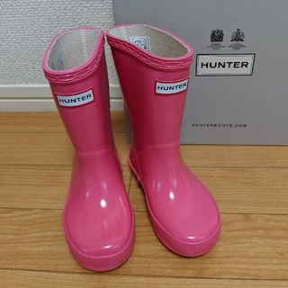 ハンター(HUNTER)のHUNTER キッズレインブーツ UK7(長靴/レインシューズ)