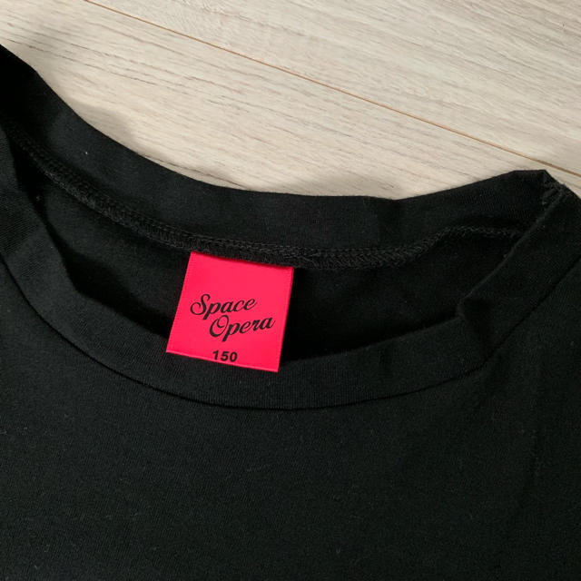 しまむら(シマムラ)のかえもみ様専用。しまむら ショート丈 Tシャツ ロゴ 150 美品 キッズ/ベビー/マタニティのキッズ服 女の子用(90cm~)(Tシャツ/カットソー)の商品写真