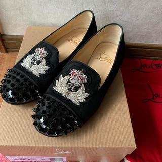 クリスチャンルブタン(Christian Louboutin)のクリスチャンルブタン ローヒール パンプス ローファー 黒 バレエシューズ (ローファー/革靴)
