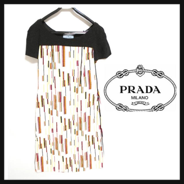 PRADA(プラダ)の美品♡プラダ春ワンピース レディースのワンピース(ひざ丈ワンピース)の商品写真