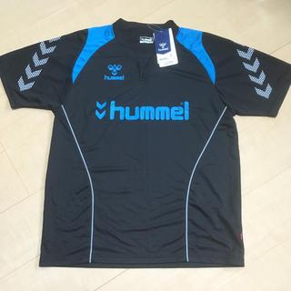 hummel - ☆おすすめ新品☆サッカー ヒュンメル hummel 半袖ユニフォーム 黒×青 L