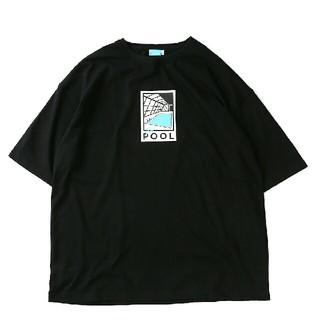 フリークスストア(FREAK'S STORE)の新品送料込 CREW ss LOGO TEE 黒XL 例のプール(Tシャツ/カットソー(半袖/袖なし))