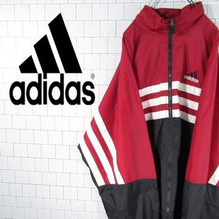 アディダス(adidas)の【激レア】アディダス 刺繍ロゴ ビッグサイズ ナイロンジャケット 90s 古着(ナイロンジャケット)