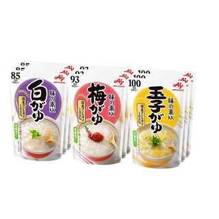 味の素 おかゆ 3種×3個(白がゆ3個、梅がゆ3個、玉子がゆ3個)(米/穀物)