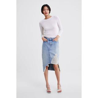 ザラ(ZARA)のZ1975 RIPPED DENIM SKIRT(その他)